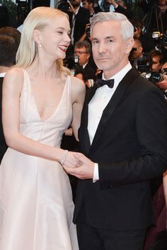 Carey Mulligan and Baz Luhrmann held each other at the Cannes Film Festival