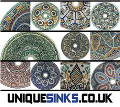 Gallery For Photographers Some of the beautiful designs of Moroccan hand painted sinks available from uniquesinks co