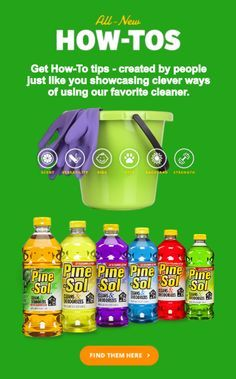 'House Cleaning Tips: How to Clean House with Pine-Sol®...!' (via pinesol.com)