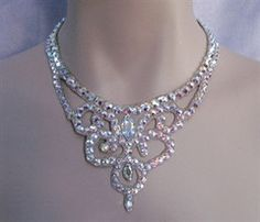Ballroom Crystal Swirl Necklace - Swarovski Necklace - Ballroom Jewels