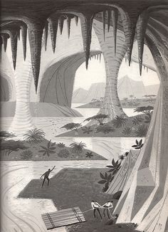 Illustrator Peter P. Plasencia for Franz Born's 1964 book Jules Verne: The Man Who Invented the Future