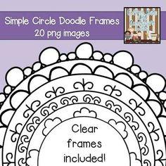 doodle border frames
