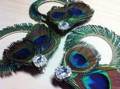 DIY Peacock Hairpeice :  wedding bridesmaids diy fascinator hair clip hair piece peacock purple silver teal BM Hair Peice