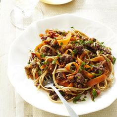 Linguine with Carrot-Turkey Ragu