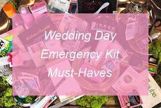 Wedding Day Survival Kit Must-Haves Wedding Day Checklist, Wedding Day Tips, Wedding Day Timeline, Survival Kit, Blog, Blogging, Survival Kits
