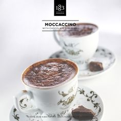 Moccaccino, with Chocolate Syrup 1883. #Coffee #Barista