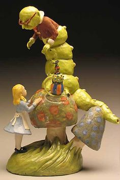 Alice in Wonderland sculptural teapot Made to order by chlola, $1400.00