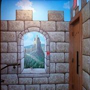 Faux castle walls are a fun way to decorate a child's bedroom, or to add a medieval feel to a history loving homeowner's living room. The entire process takes just a few hours, over a couple of days and is a surprisingly easy technique to learn which gives amazing results.