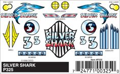 Silver Shark Peel & Stick Decals