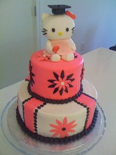 Hello Kitty Cake - I want this I'm yellow & blue when I'm done w/ my Masters.