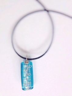 Icy blue glass bead necklaces by Brynstones on Etsy