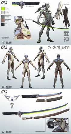 Post with 86 votes and 167417 views. Shared by Kinneizer. Character Sheet, Character Modeling, Game Character, Character Concept, Concept Art, Overwatch Hero Concepts, Live Action, Tracer Cosplay, Overwatch Genji