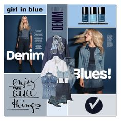 """""""girl in blue"""" by drn57 ❤ liked on Polyvore featuring MM6 Maison Margiela, Chelsey, AllSaints, River Island, rag & bone, Topshop and Alima"""