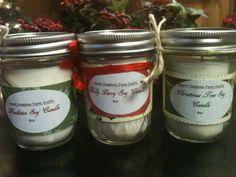 Christmas trio candle set by SweetPumpkinsFarm on Etsy, $25.00