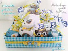 Oggi mi sento creativa: Rieccomi - bomboniere nascita - animaletti portach...