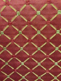 Dot and Diamond Upholstery Fabric -The listing price is per yard.  -The minimum you can order is one yard.  -Please check the quantity for your