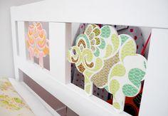 Ikea Kritter bed wallpaper upgrade