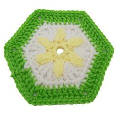$1.99 - May Hexagon Motif - A Crochet pattern from jpfun.com