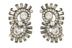 Ben-Amun crystal swirl earrings