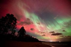 The Northern Lights - Emmet County, Michigan