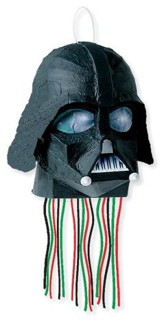 Our Pull String Star Wars Pinata Kit is perfect for an intergalactic Star Wars party! Pull String Star Wars Pinata Kit includes candy, a pinata bat and blindfold. Star Wars Pinata, Star Wars Helmet, Vader Helmet, Star Wars Party Favors, Pinata Party, Darth Vader, Pinata Fillers, Party World, Star Wars Birthday