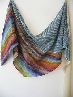 Colorful Shawl Knitting Patterns Diving In free shawl knitting pattern. A perfect use for stash sock or fingering yarn! and more colorful shawl knitting . Knitting Patterns Free, Free Knitting, Crochet Patterns, Free Pattern, Knit Shawl Patterns, Knitted Shawls, Crochet Scarves, Knit Or Crochet, Crochet Shawl