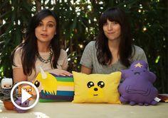 Craft-Teen: 'Adventure Time' Pillows With Meghan! DIY!
