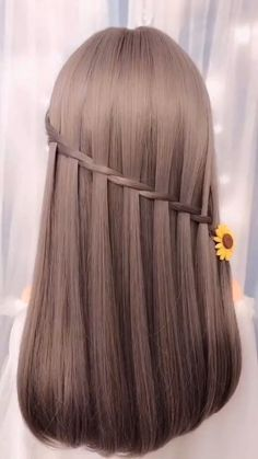 10 Beautiful Unique Hairstyle for Long Hair Part 5 – beautiful hair styles for wedding Easy Hairstyles For Long Hair, Braids For Long Hair, Unique Hairstyles, Girl Hairstyles, Braided Hairstyles, Wedding Hairstyles, Everyday Hairstyles, Hairstyles Videos, Quinceanera Hairstyles