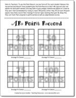 Accelerated Reader Points Record - designed for students who are trying to reach a goal, like the idea but I may have to modify point values! 6th Grade Ela, 2nd Grade Reading, Ar Reading, Reading Counts, Reading Resources, Reading Strategies, Teacher Resources, Teaching Ideas, Reading Fluency