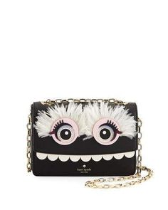 Kate Spade New York Imagination Toothy Monster Shoulder Bag, Multi - black clutch bag, branded bags, business bag *ad
