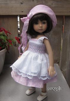 "Smocked Lilac for Dianna Effner Little Darlings 13"" Studio Dolls by Pixxells 