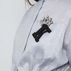 "565 Likes, 2 Comments - fashion embroidery (@matreshki.rf) on Instagram: ""@dicekayek - Preorder now #SS2018 Short Sleeve Shirt Dress at @modaoperandi #DiceKayek #trunkshow…"""