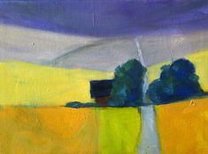 Rural Landscape Oil Painting Original 6x8 by Nancy Merkle smallimpressions