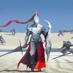 Warrior concept art knights armour 44 new ideas Fantasy Character Design, Character Concept, Character Inspiration, Character Art, Fantasy Armor, Dark Fantasy Art, Medieval Fantasy, High Fantasy, Warrior Concept Art