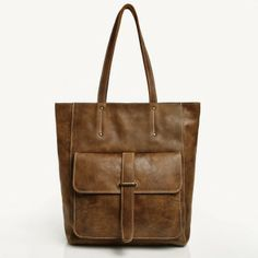 Sorority Tote Vintage Tribe Leather | Roots