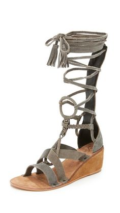 Free People Saltarello Mini Wedge Gladiator Sandals