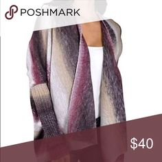 Women's Sweater This sweater is stunning in colors of mauve, raspberry, cream, grey, and black. With ombré details it will go with so many items in your wardrobe. This item is cross listed and I have Medium, Large, and X-Large Sweaters