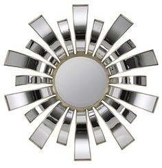Teasel Mirror Aged Silver and Mirrored Finish; Beveled Mirror