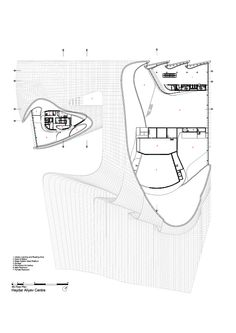 Image 39 of 52 from gallery of Heydar Aliyev Center / Zaha Hadid Architects. Site Plan + Section Floating Architecture, Zaha Hadid Architecture, Interior Architecture, Dome Structure, Building Structure, Arquitectos Zaha Hadid, Youth Center, Site Plans, Concert Hall