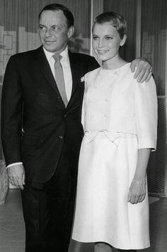 Mia Farrow and Frank Sinatra, 1966.