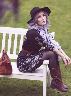 Fall Style, Fall Fashion, Autumn Outfit, Herbstlook, pastel hair, Fashion Blog, Western Style