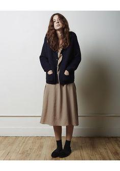 LA GARçONNE MODERNE | Sylvia Alpaca Handknit Cardigan | La Garçonne