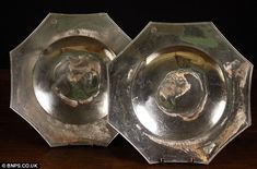 A pair of 16th century pewter dishes. The haul has been so well preserved in the sea bed that it is said to be as historically valuable as that raised from the wreck of the Mary Rose