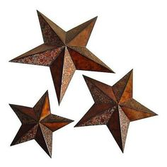Valinda Set of 3 Swirl Design Metal Stars Wall Art ($125) ❤ liked on Polyvore featuring home, home decor, wall art, fillers, stars, decor, art, backgrounds, brown and metal star wall art