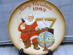 COCA COLA CHRISTMAS Plate by neilsellers on Etsy, $39.99