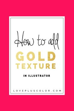 I've always been in love with gold texture in design and even when added to branding. I'm going to show you a step-by-step tutorial on how to add gold texture in Adobe Illustrator. You can get a free 30-day trial here or purchase the full version here. Alright, let's get started! First, get your gold texture here. Then write your text out using the type tool.Read More »