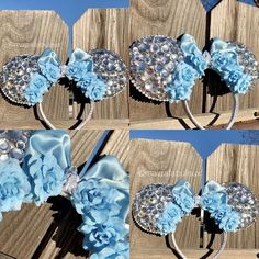 7a0f1d7b7840cc Cinderella Crystals and Roses Minnie Ears