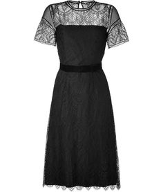 Collette Dinnigan  Black Fern Lace Dress