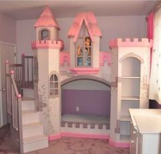 Such a cool bed for little girls!!!