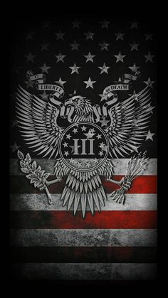 Three Percenters wallpaper by Furshe - - Free on ZEDGE™ American Flag Wallpaper Iphone, Patriotic Wallpaper, Apple Wallpaper, Black Wallpaper, Cellphone Wallpaper, Iphone Wallpaper, Usmc Wallpaper, Patriotic Images, Batman Wallpaper